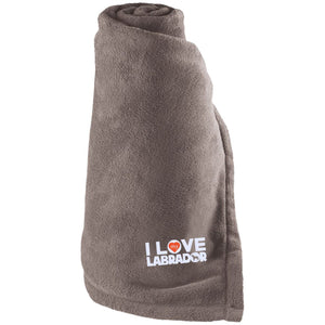 I Love My Labrador - Large Fleece Blanket