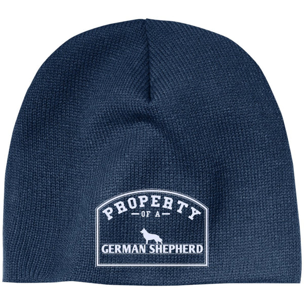 German Shepherd - Property Of A German Shepherd - Beanie (Embroidered)