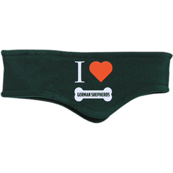 German Shepherd - I LOVE MY German Shepherd (BONE DESIGN) - Fleece Headband