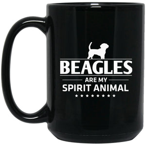 Awesome Beagle - Beagles Are My Spirit Animal Large Black Mug