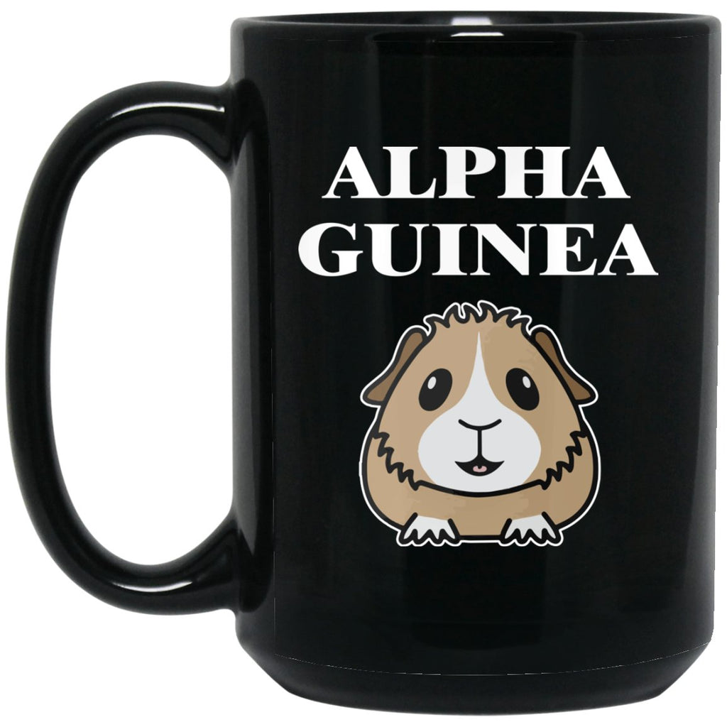 Alpha Guinea Pig Large Black Mug