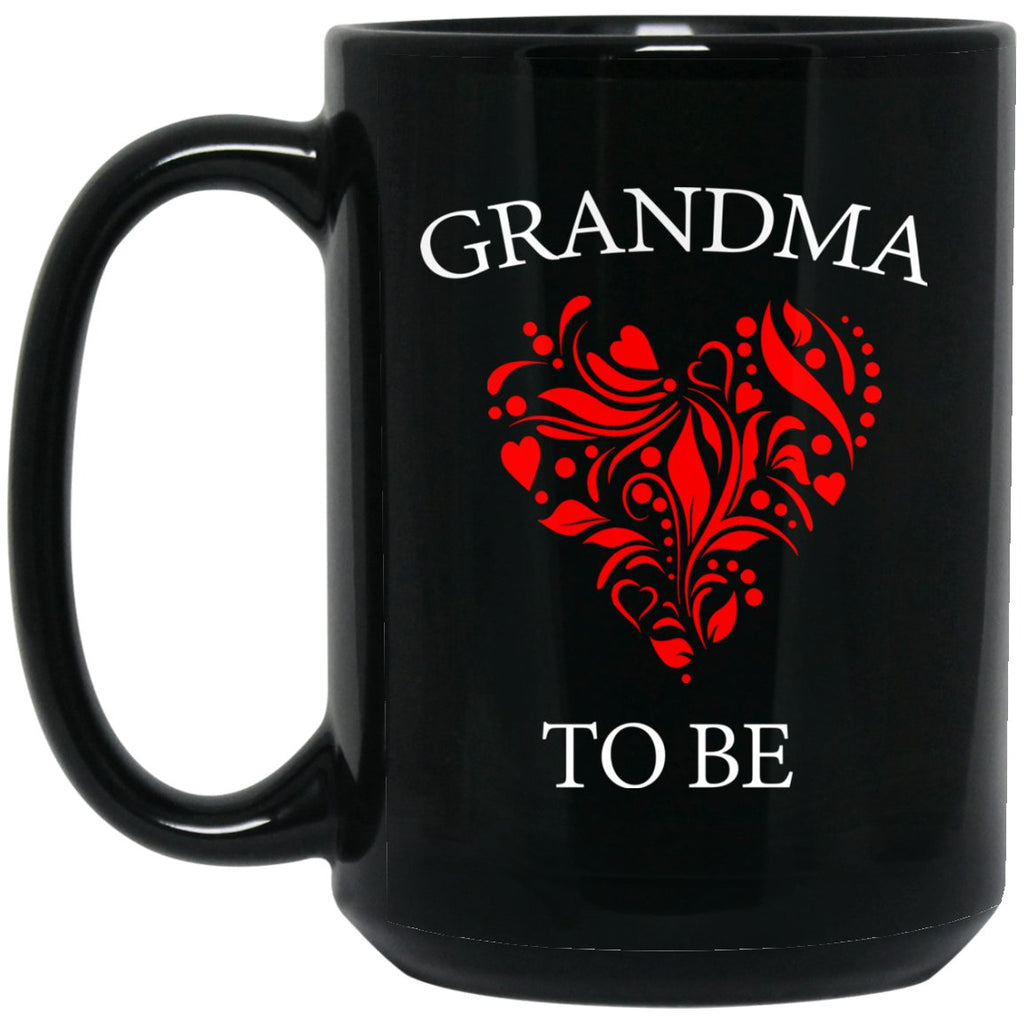 Beautiful Grandma To Be Gift For New Grandma Large Black Mug