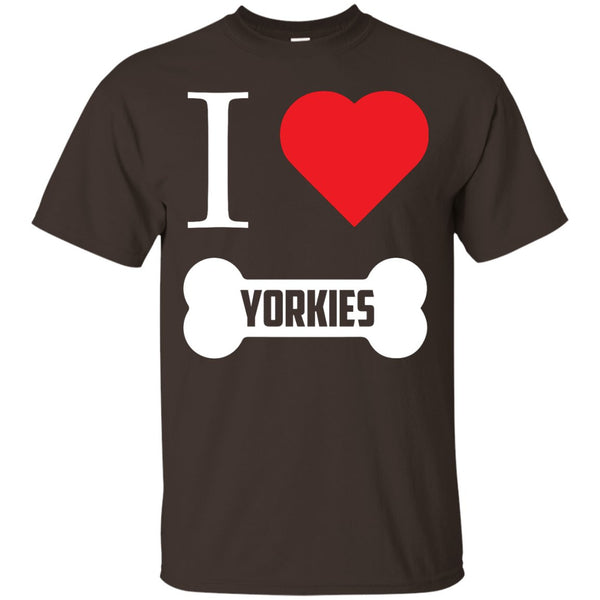 Yorkshire - I LOVE MY YORKSHIRE (BONE DESIGN) - Custom Ultra Cotton T-Shirt