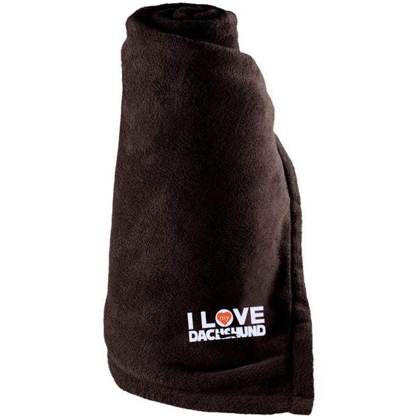 I Love My Dachshund - Large Fleece Blanket