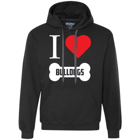 Bulldog - I LOVE MY BULLDOG (BONE DESIGN) - Heavyweight Pullover Fleece Sweatshirt
