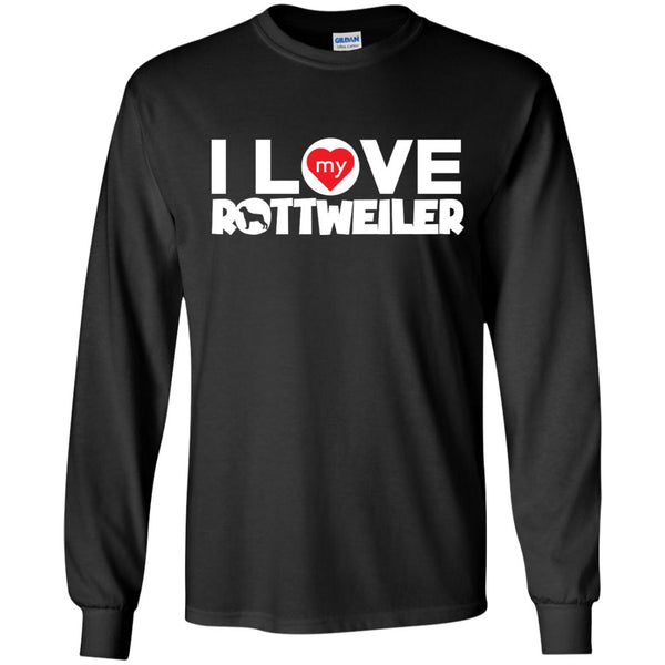 I Love My Rottweiler - LS Ultra Cotton Tshirt