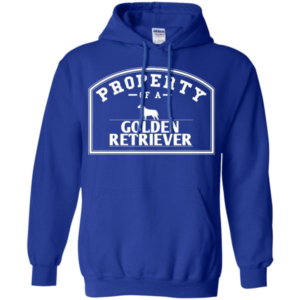 Golden Retrievers - Property Of A Golden Retrievers - Pullover Hoodie 8 oz