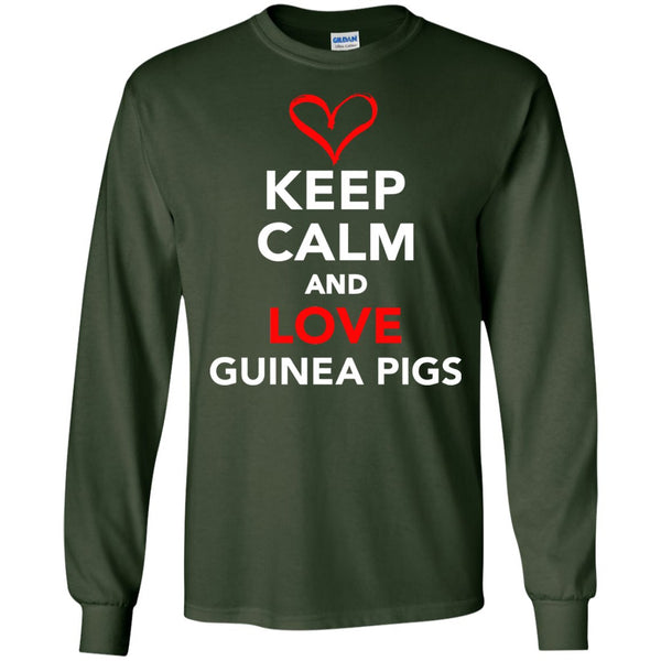 Keep Calm And Love Guinea Pigs  LS Ultra Cotton Tshirt