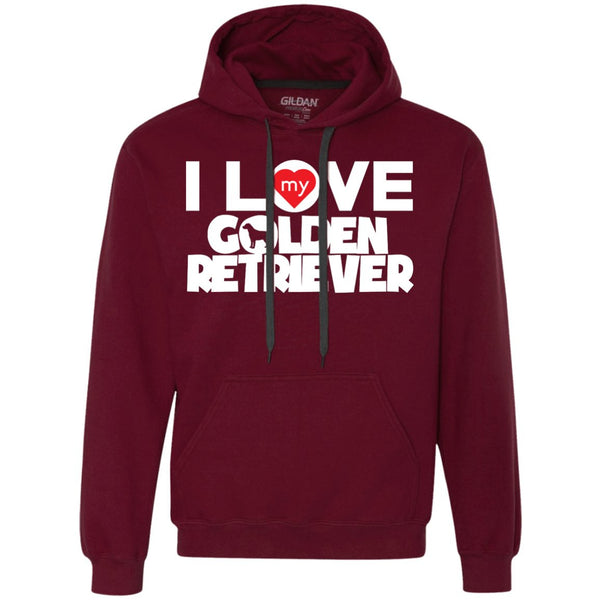 I Love My Golden Retriever - Heavyweight Pullover Fleece Sweatshirt