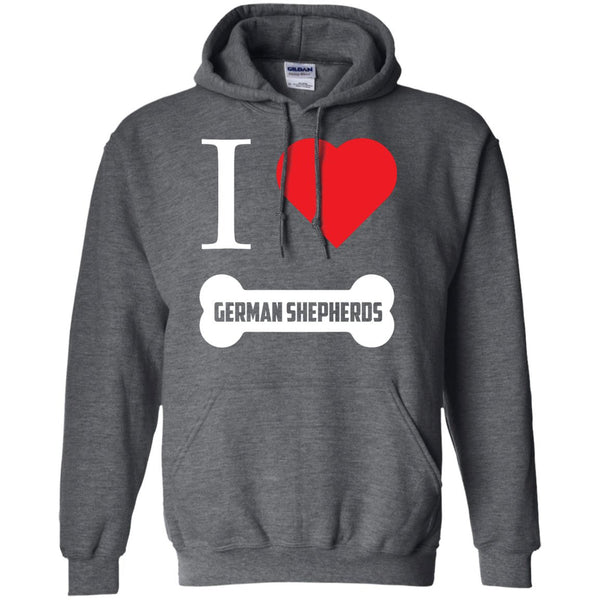 German Shepherd - I LOVE MY German Shepherd (BONE DESIGN) - Pullover Hoodie 8 oz