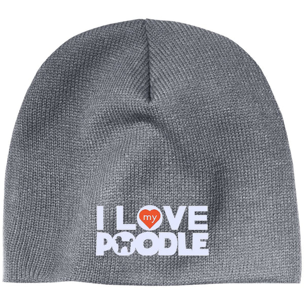I Love My Poodle - Beanie (Embroidered)