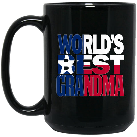 Cool Worlds Best Grandma Mug and Texas T Mug Grandma T Mug Texas Flag T Mug Large Black Mug