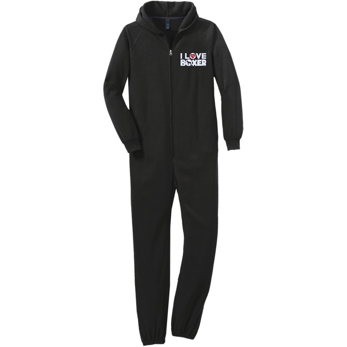 I Love My Boxer  - Adult Fleece Onesie (Embroidered)