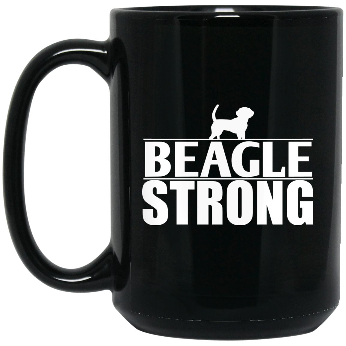 Awesome Beagle - Beagle Strong Large Black Mug