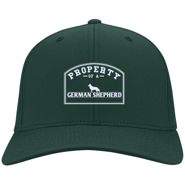 German Shepherd - Property Of A German Shepherd - Dry Zone Nylon Cap (Embroidered)