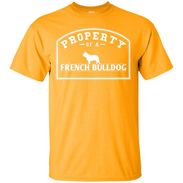 French Bulldog - Property Of A French Bulldog -  Custom Ultra Cotton T-Shirt