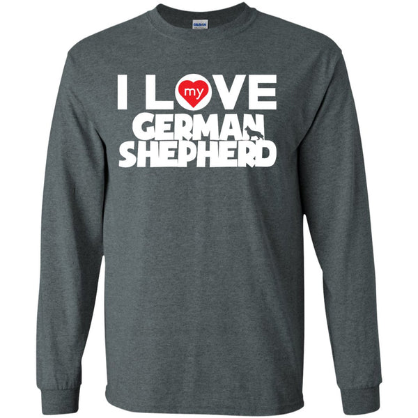 I Love My German Shepherd - LS Ultra Cotton Tshirt
