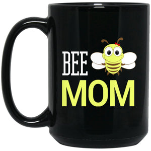 BEE MOM Funny Beekeeping Gift Large Black Mug