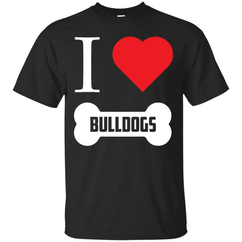 Bulldog - I LOVE MY BULLDOG (BONE DESIGN) -  Custom Ultra Cotton T-Shirt