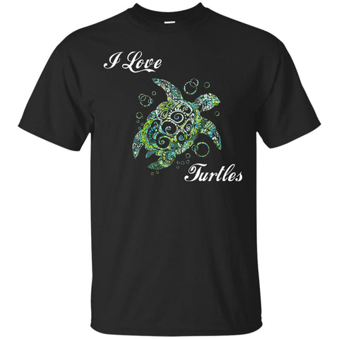 Beautiful I Love Turtles Gift T-Shirt