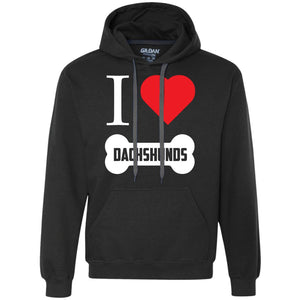 Dachshund - I LOVE MY Dachshund (BONE DESIGN) - Heavyweight Pullover Fleece Sweatshirt