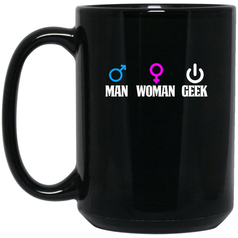 Math Teacher Mug - Man Woman Geek Large Black Mug