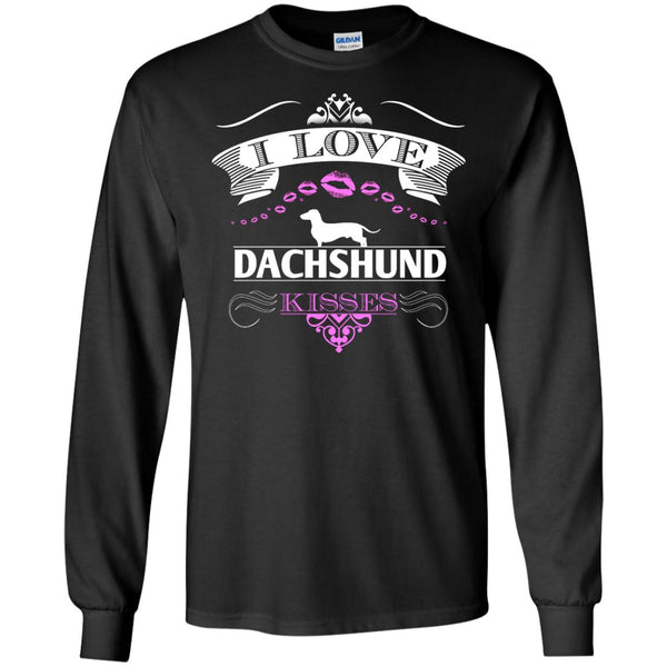 I LOVE DACHSHUND KISSES - FRONT DESIGN - LS Ultra Cotton Tshirt