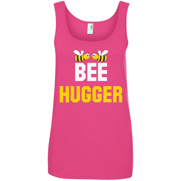 Bee Hugger Funny Beekeeper Shirt Ladies Tank Top