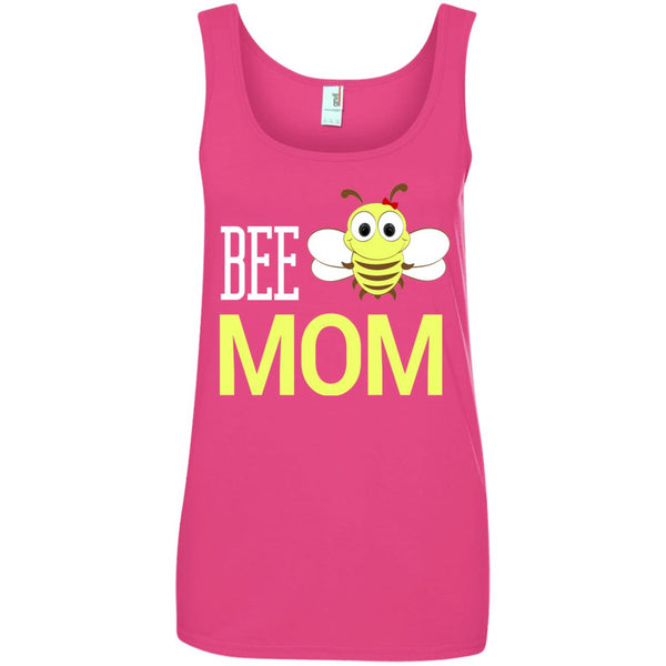 BEE MOM Funny Beekeeping Gift Ladies Tank Top