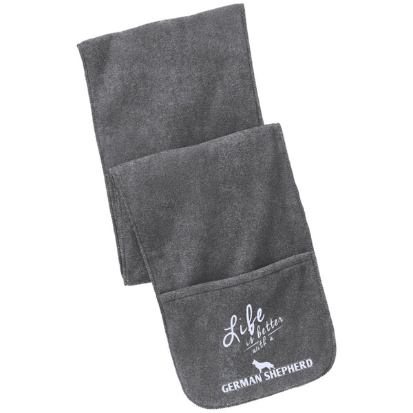 German Shepherd - Life Is Better With A German Shepherd Paws - Fleece Scarf with Pockets