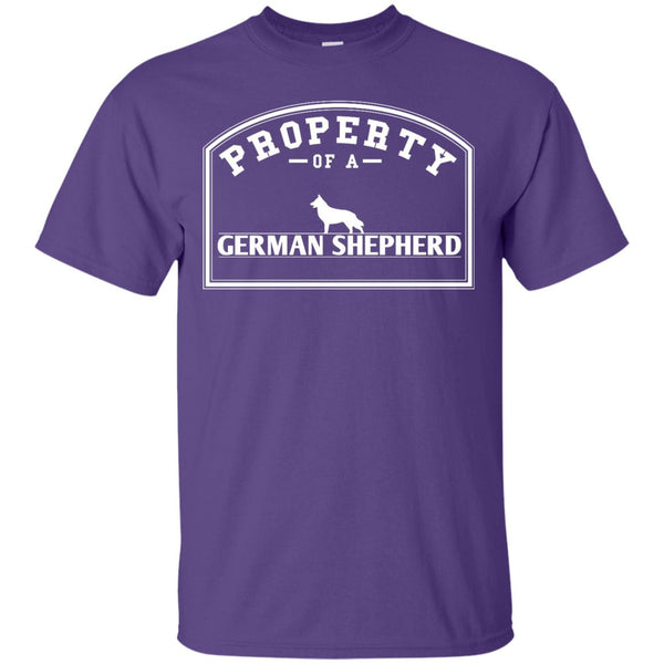 German Shepherd - Property Of A German Shepherd -  Custom Ultra Cotton T-Shirt