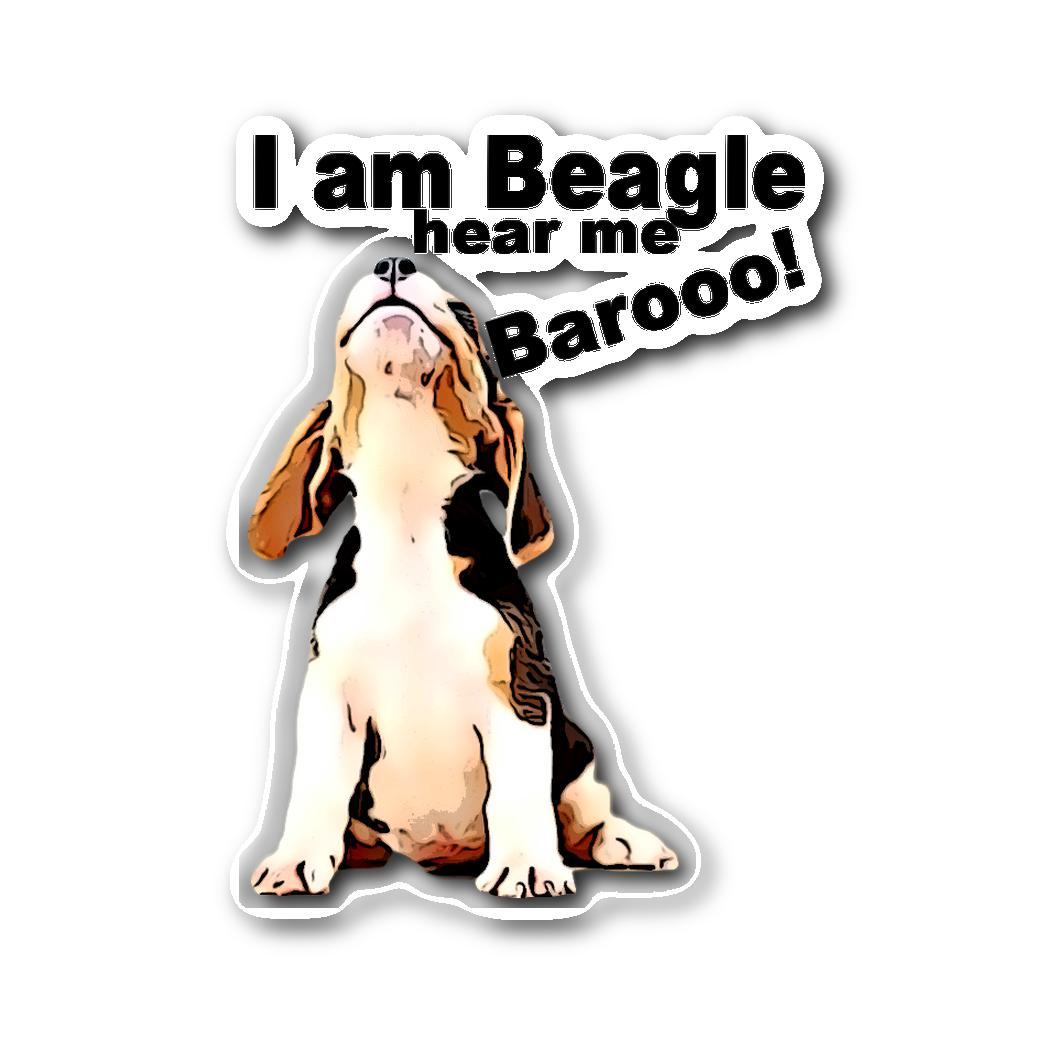Beagle Sticker - Hear me Baroo!