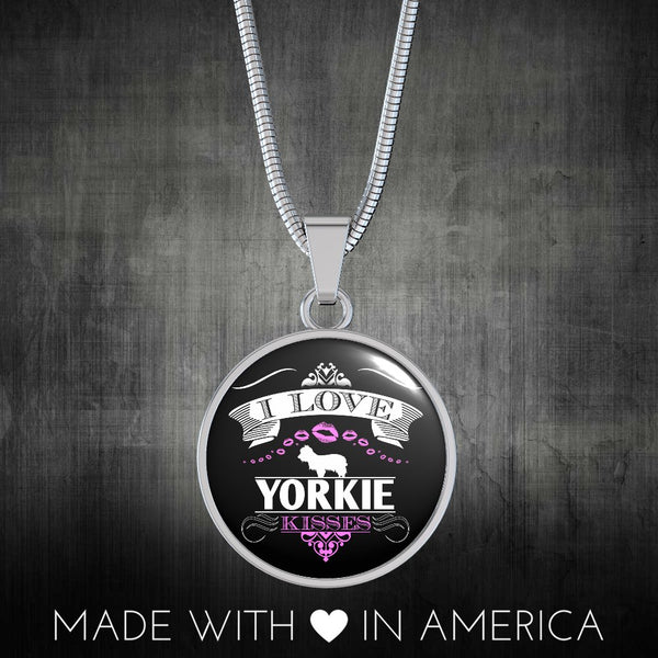 I Love Yorkie Kisses Necklace