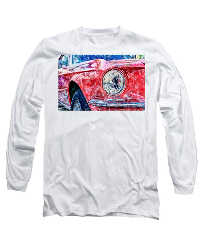 Watercolor Of Classic Car - Long Sleeve T-Shirt
