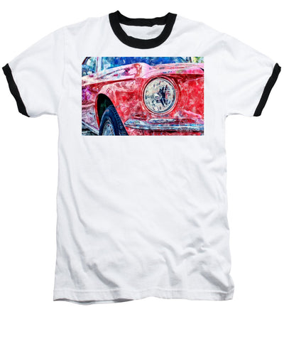 Watercolor Of Classic Car - Baseball T-Shirt