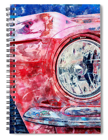 Watercolor Of Classic Car - Spiral Notebook