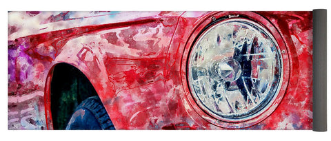 Watercolor Of Classic Car - Yoga Mat