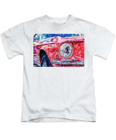 Watercolor Of Classic Car - Kids T-Shirt
