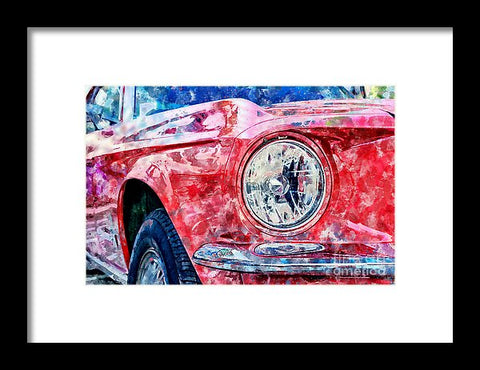 Watercolor Of Classic Car - Framed Print