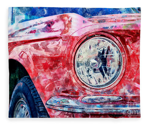 Watercolor Of Classic Car - Blanket