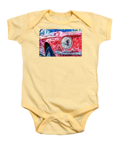 Watercolor Of Classic Car - Baby Onesie