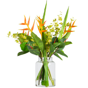 Heliconia / Orchid - Large