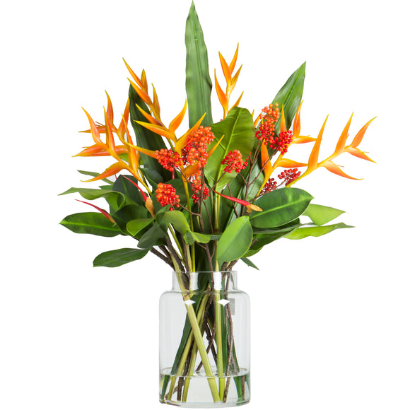 Heliconia / Fire Berry - Large