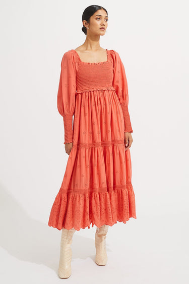 Claire Dress - Rhubarb - steele label
