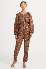 Goldie Jumpsuit - Brune Carnelian - steele label