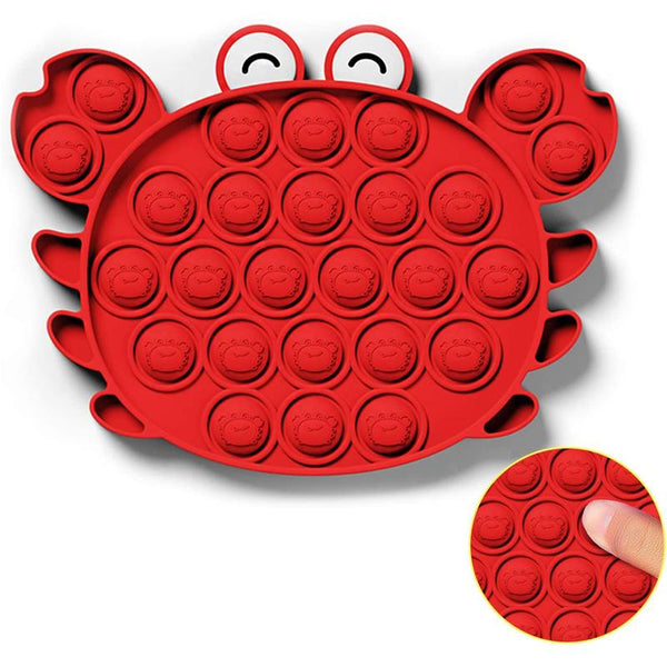 Crab - Push Pop Bubble Fidget Sensory Toy, Pop-Pop Fidget Toy Gifts for Boys and Girls, Stress Relief and Anti-Anxiety Tools for Kids and Adult