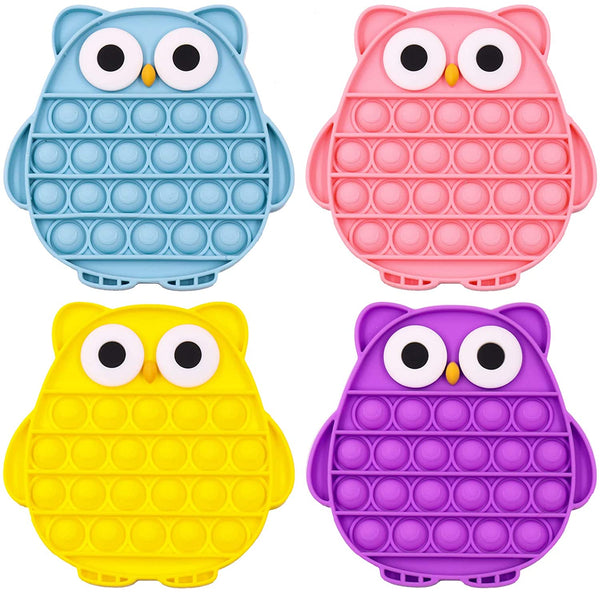 Owl - Push Pop Bubble Fidget Sensory Toy, Pop-Pop Fidget Toy Gifts for Boys and Girls, Stress Relief and Anti-Anxiety Tools for Kids and Adult