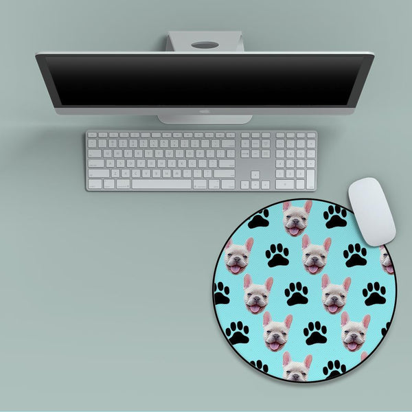 Custom Face Round Mouse Pad