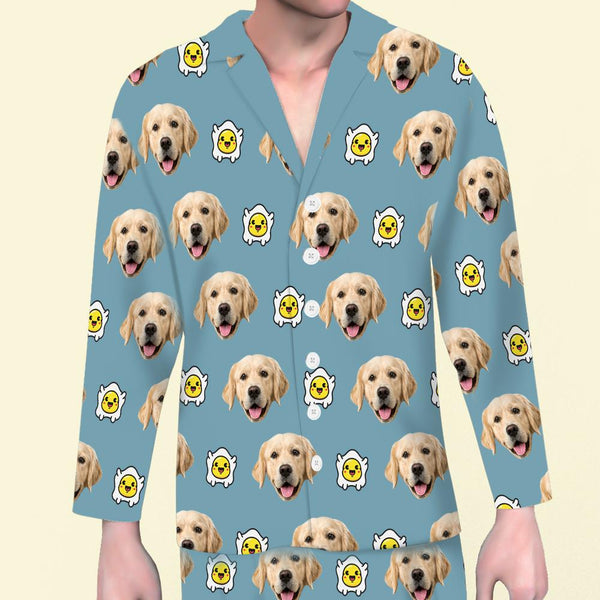 Custom Dog Face Pajama Top