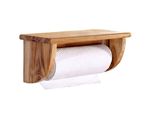 The Weaver's Nest Teak Wood Kitchen Roll /Towel Dispenser